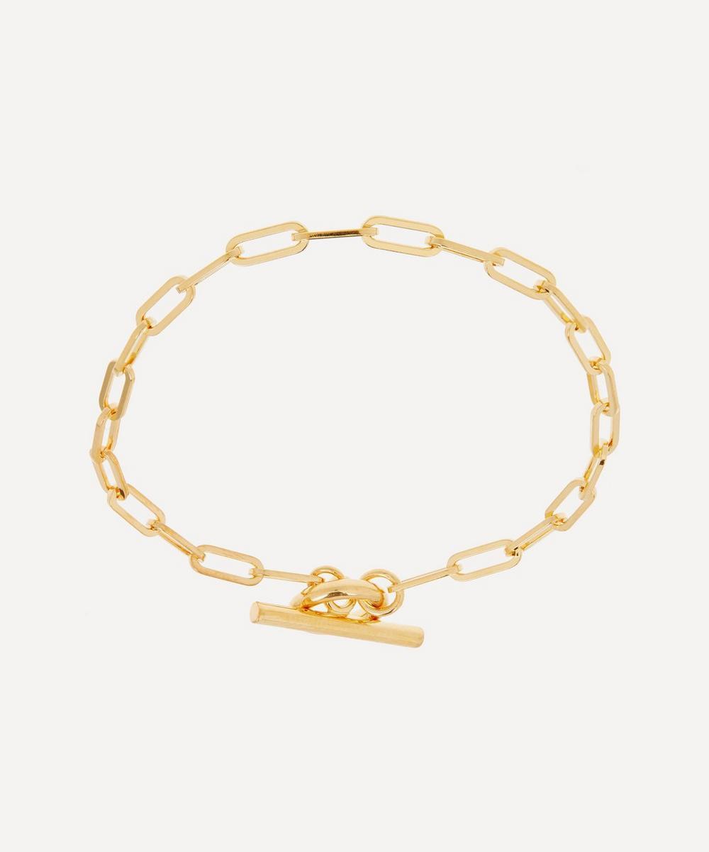 Otiumberg - 14ct Gold Plated Vermeil Silver Love Link Chain Bracelet