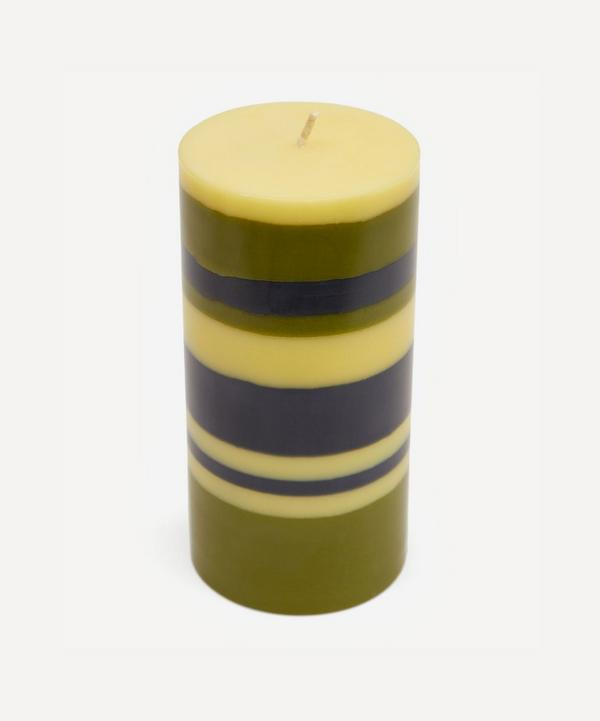 British Colour Standard - Striped Pillar Candle