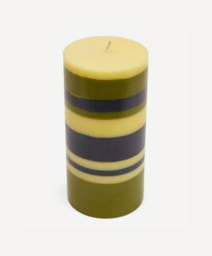 Striped Pillar Candle