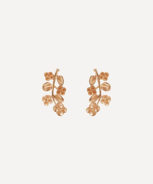 Liberty - 9ct Rose Gold Blossom Stud Earrings