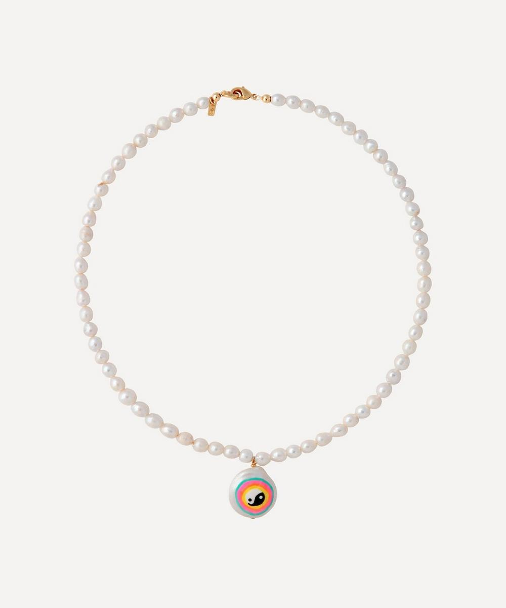 Martha Calvo - Oasis Painted Pearl Pendant Necklace