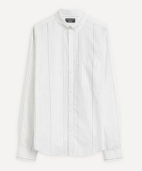 Balenciaga - Oversized Logo Pinstripe Shirt