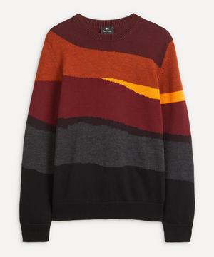 Red Abstract Stripe Sweater