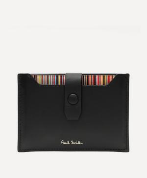 Signature Stripe Pull-Out Card Holder