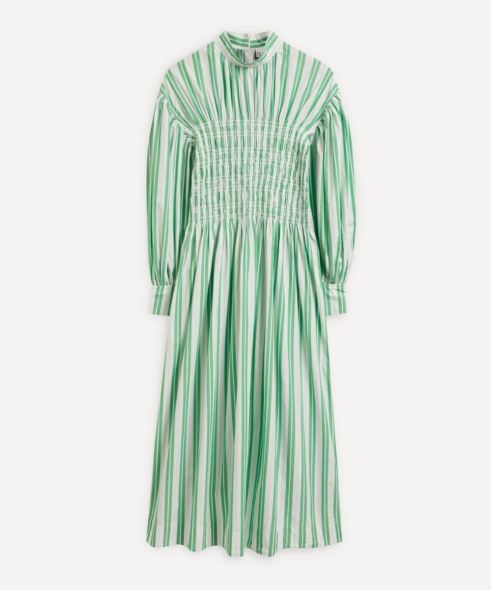 Ganni - Stripe Organic Cotton Smock Dress
