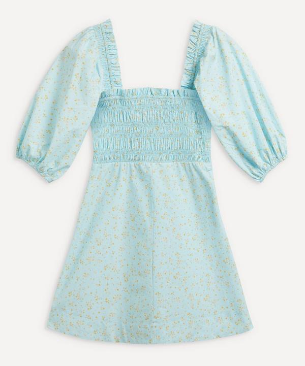 Ganni - Smocked Bodice Mini-Dress
