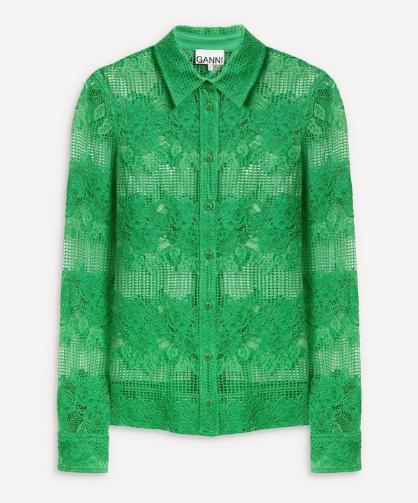 Ganni - Button-Up Lace Shirt
