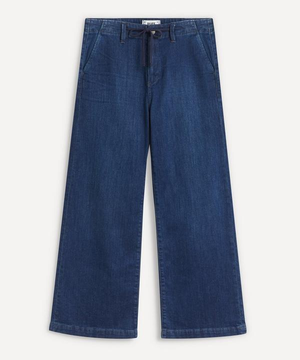 Paige - Carly Wide-Leg Drawstring Jeans