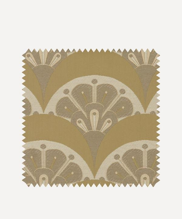 Liberty Interiors - Fabric Swatch - Deco Scallop Multi Jacquard in Lichen