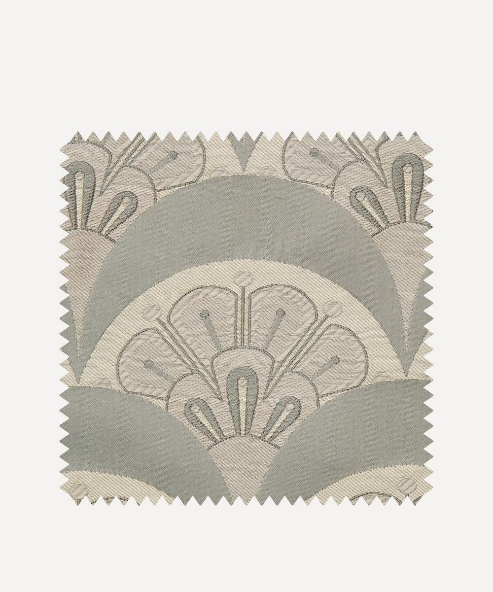 Liberty Interiors - Fabric Swatch - Deco Scallop Multi Jacquard in Pewter