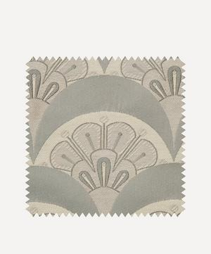 Fabric Swatch - Deco Scallop Multi Jacquard in Pewter