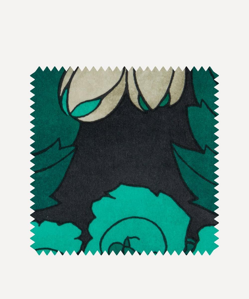 Liberty Interiors - Fabric Swatch - Regency Tulip Wellington Velvet in Jade