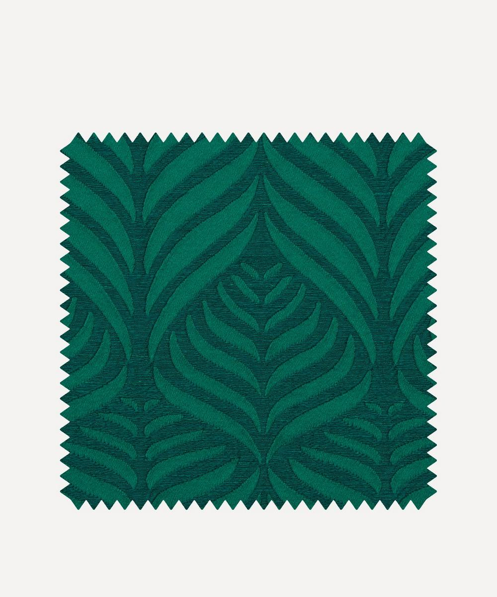 Liberty Interiors - Fabric Swatch - Quill Weave Yarn Jacquard in Jade