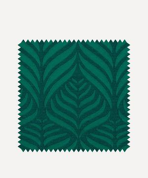 Fabric Swatch - Quill Weave Yarn Jacquard in Jade