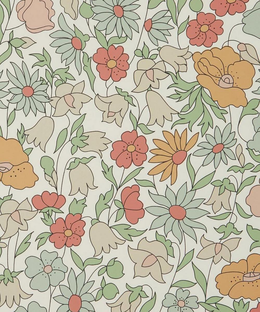 Liberty Interiors - Poppy Meadowfield Wallpaper in Lichen