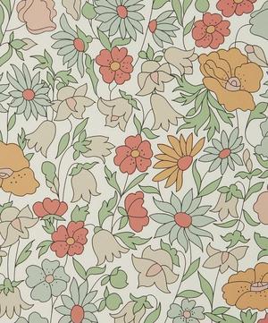 Poppy Meadowfield Wallpaper in Lichen