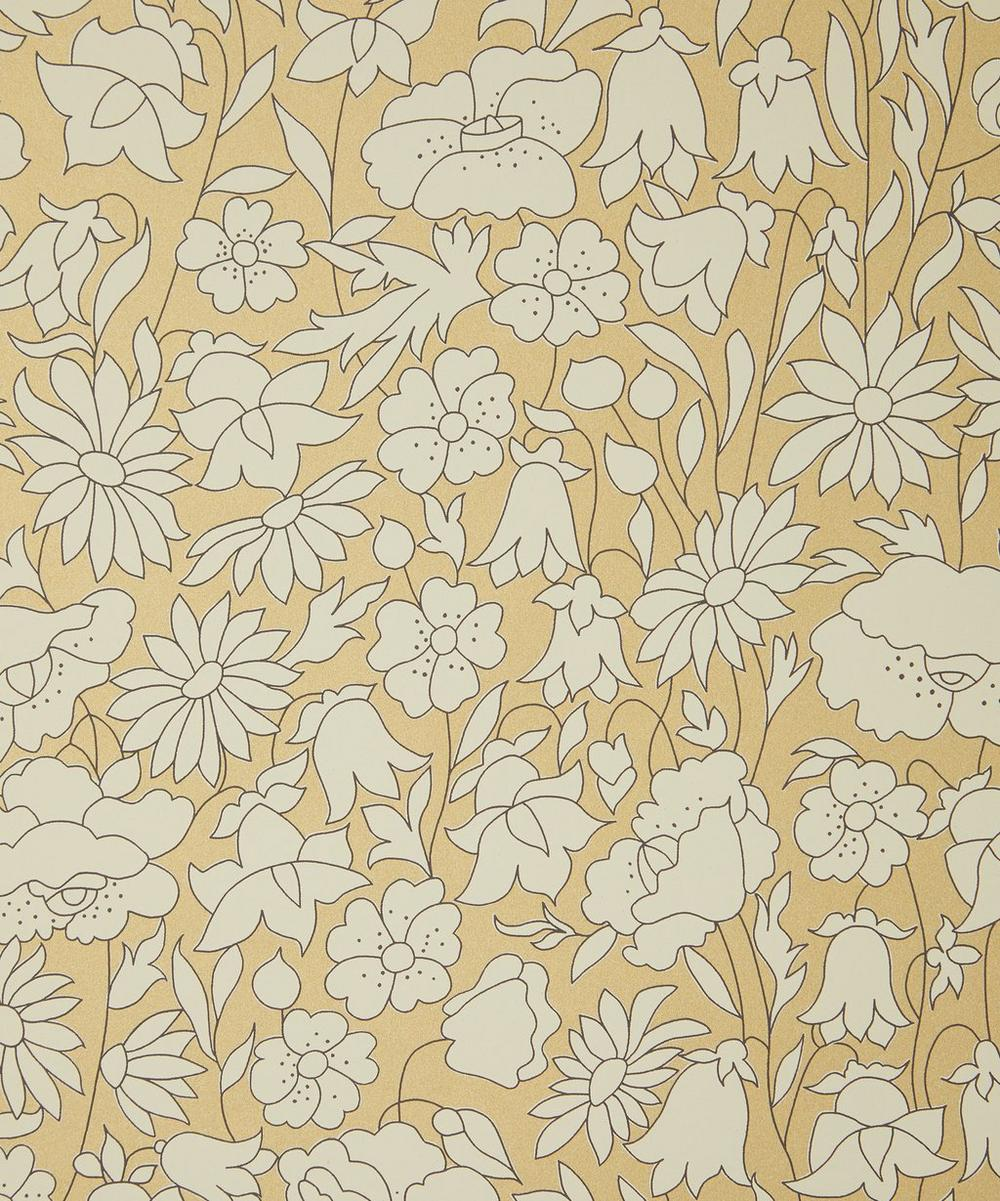 Liberty Interiors - Poppy Meadow Wallpaper in Pewter Gold