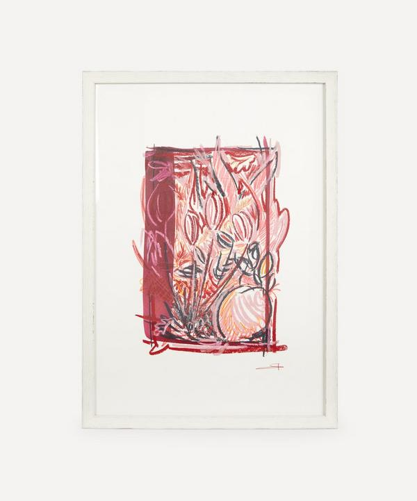 Sam Wood - Plan For A Garden Red Tulips Original Framed Artwork
