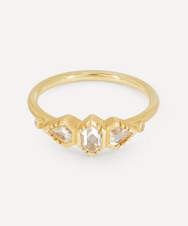Brooke Gregson - 18ct Gold Triple Geo Diamond Ring