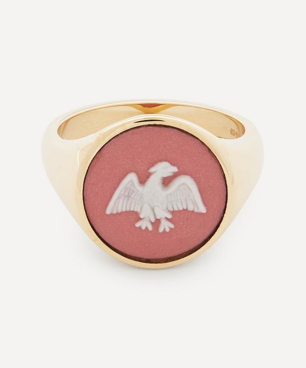 Ferian - 9ct Gold Wedgwood Eagle Round Signet Ring