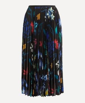 Painted Floral Pleated Skirt