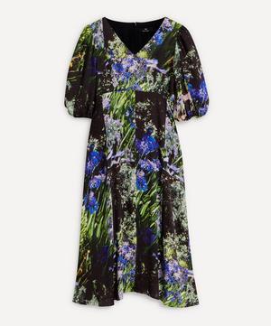 Agapanthus Floral Print Midi-Dress