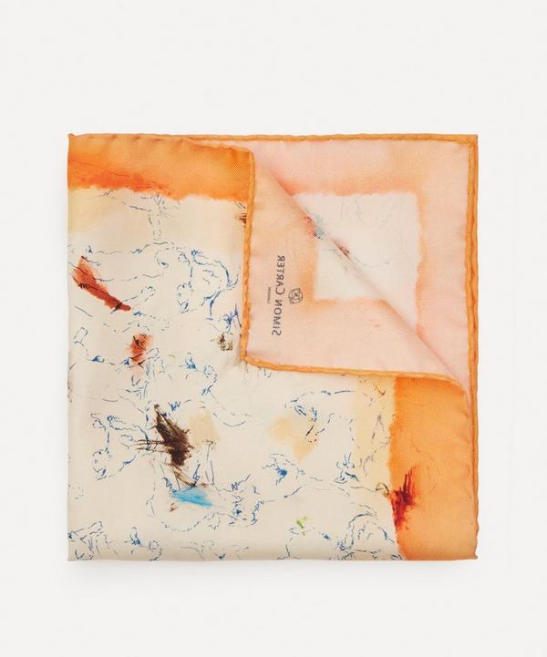 Simon Carter - Cat Attack Silk Pocket Square