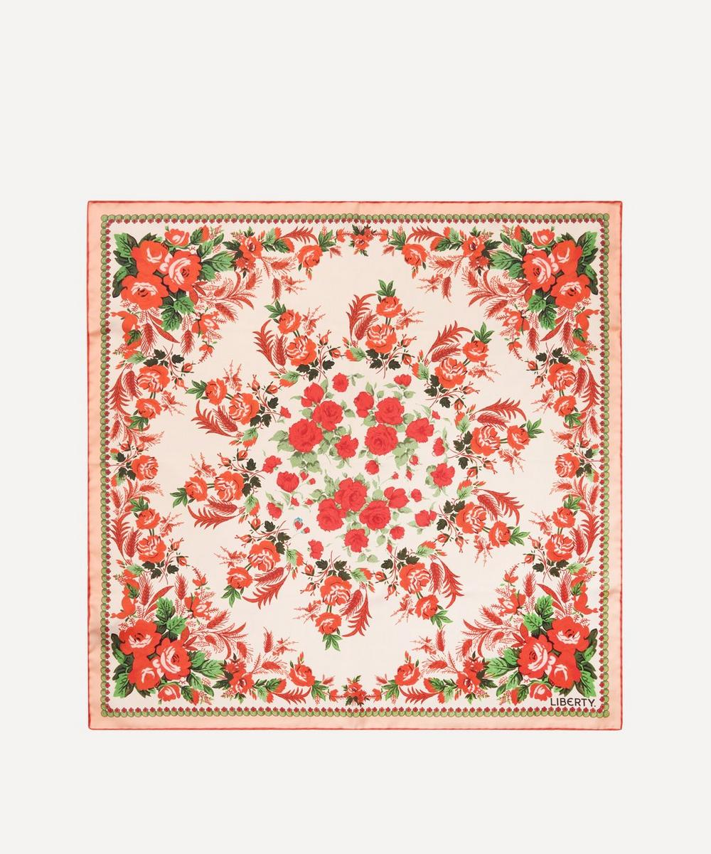 Liberty - Carline Rose 70 x 70cm Silk Twill Scarf