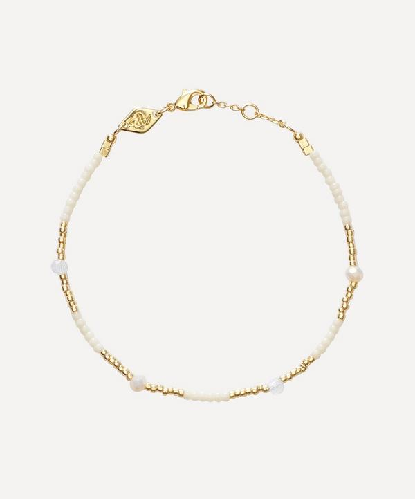 ANNI LU - Gold-Plated Clemence Beaded Bracelet
