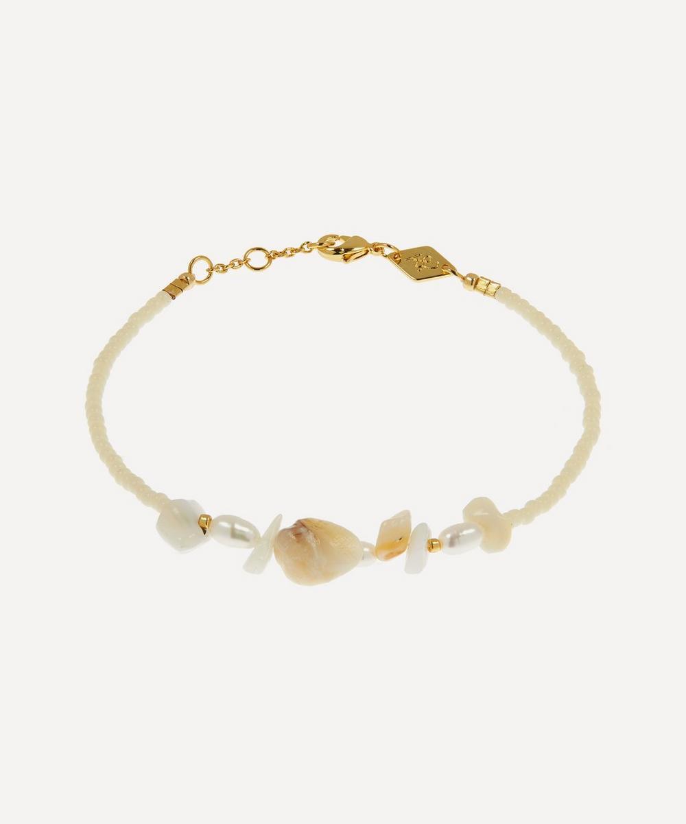 ANNI LU - Gold-Plated Emmanuelle Beaded Bracelet