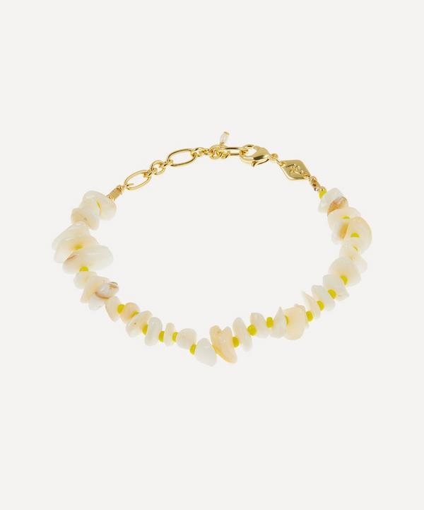 ANNI LU - Gold-Plated Chips and Lemon Beaded Bracelet
