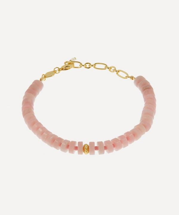 ANNI LU - Gold-Plated The Big Pink Beaded Bracelet