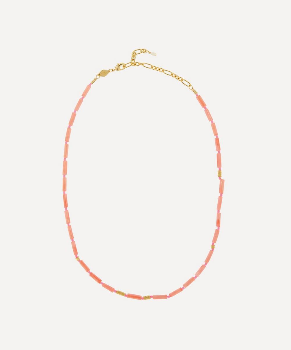 ANNI LU - Gold-Plated Malibu Beaded Necklace