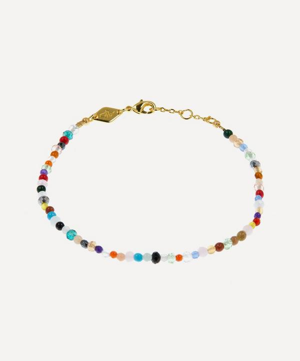 ANNI LU - Gold-Plated Precious Mix Beaded Bracelet