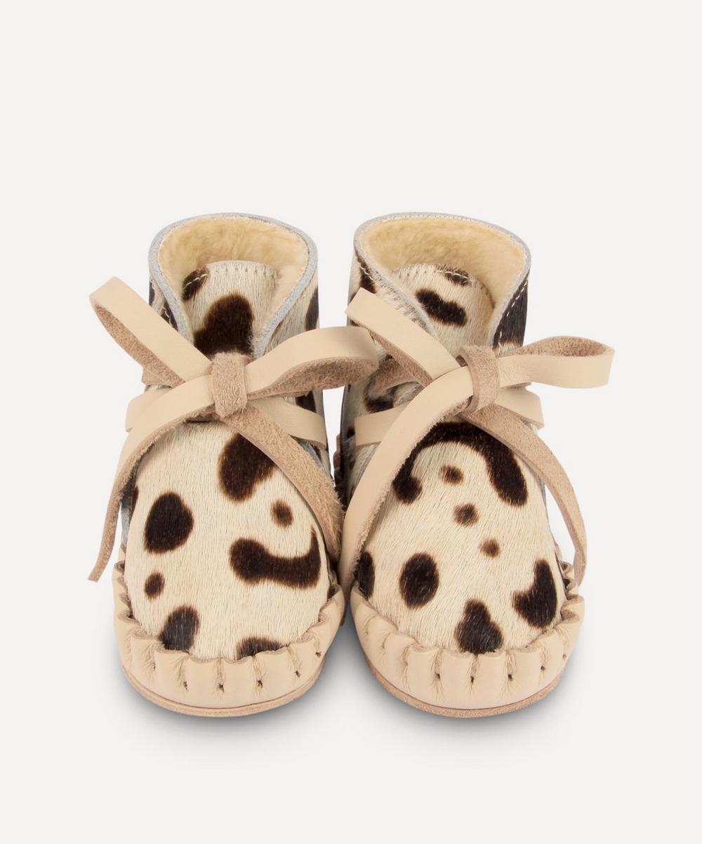 Donsje - Pina Snow Leopard Leather Baby Shoes 0-30 Months