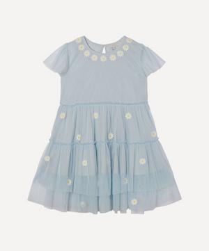 Daisy Embroidered Tulle Dress 2-8 Years
