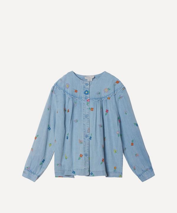 Stella McCartney Kids - Floral Embroidered Denim Shirt 2-8 Years