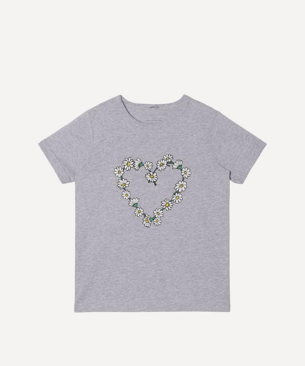 Stella McCartney Kids - Daisy Chain Heart Short Sleeve T-Shirt 2-8 Years