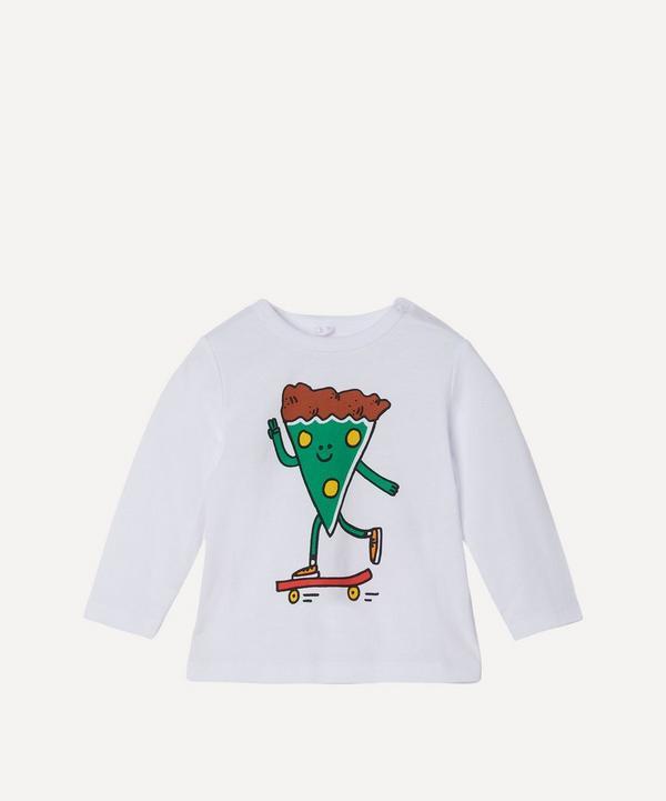 Stella McCartney Kids - Skater Pizza Long Sleeve T-Shirt 3 Months-3 Years