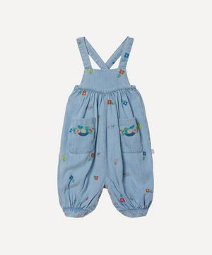 Floral Embroidered Denim Dungarees 3 Months-3 Years