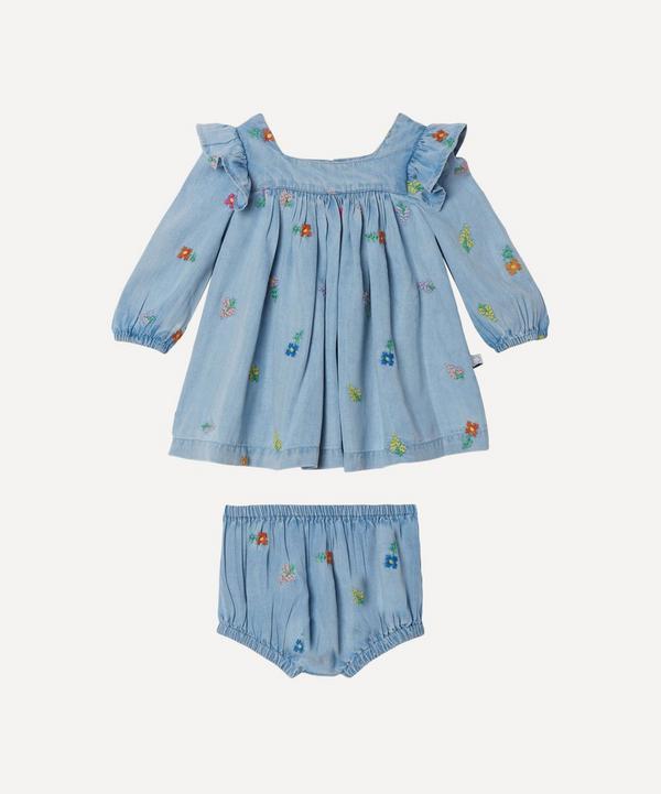 Stella McCartney Kids - Floral Embroidered Denim Dress 3 Months-3 Years