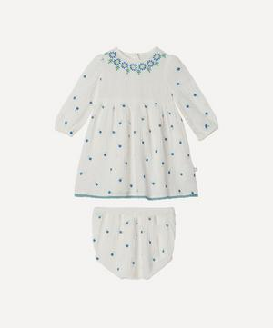 Floral Embroidered Gauze Dress 3 Months-3 Years