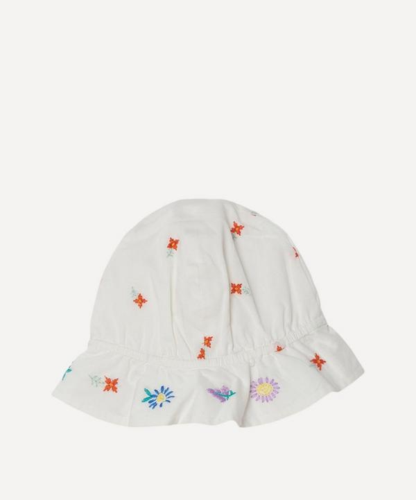 Stella McCartney Kids - Floral Embroidered Cotton Hat 3-24 Months