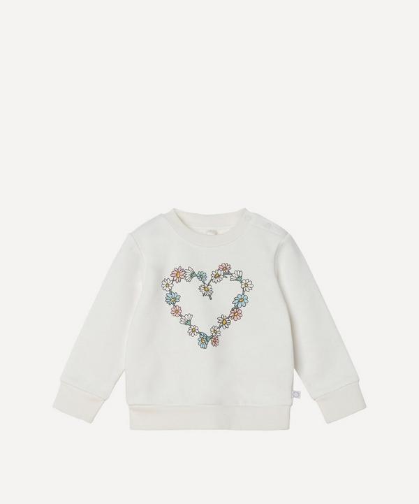 Stella McCartney Kids - Daisy Chain Heart Sweatshirt 3 Months-3 Years