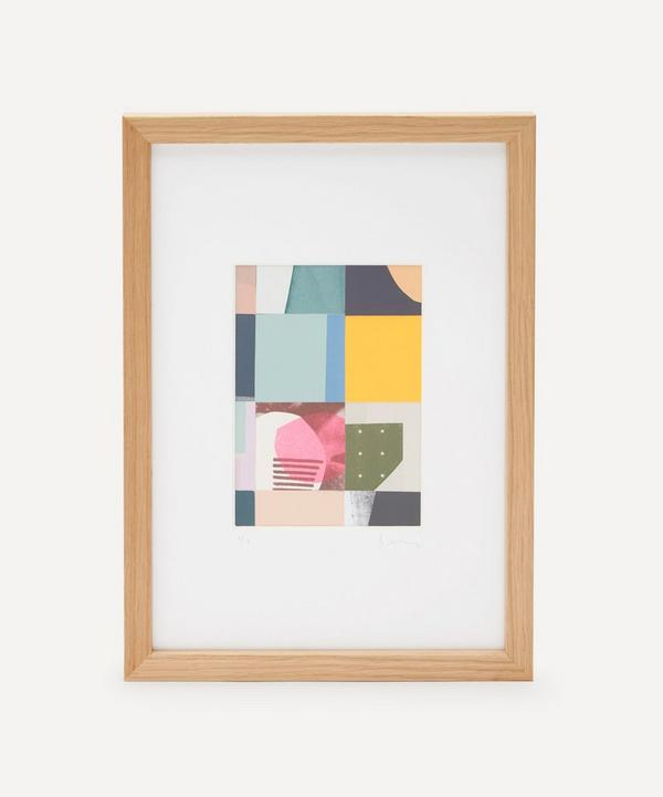 Jonathan Lawes - Plaid 01 A4 Framed Collage
