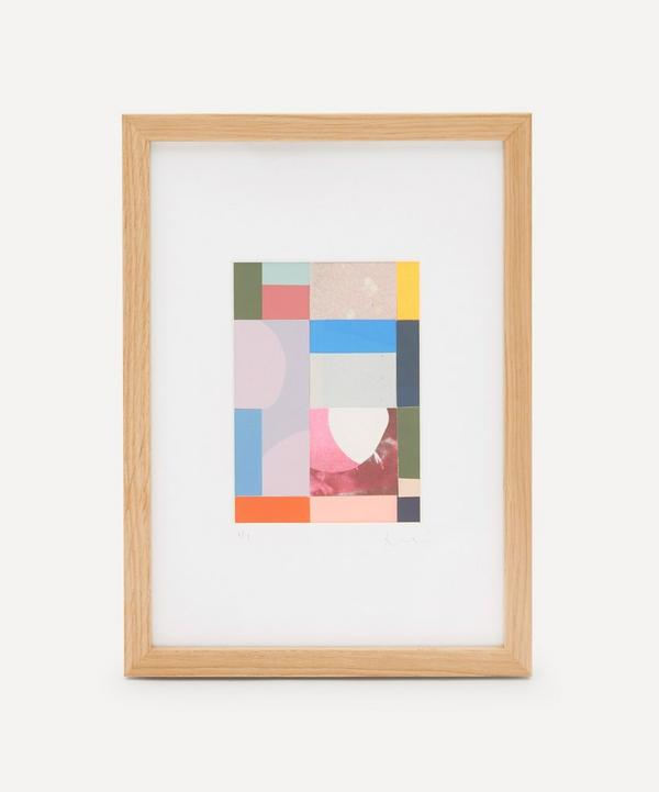 Jonathan Lawes - Plaid 02 A4 Framed Collage