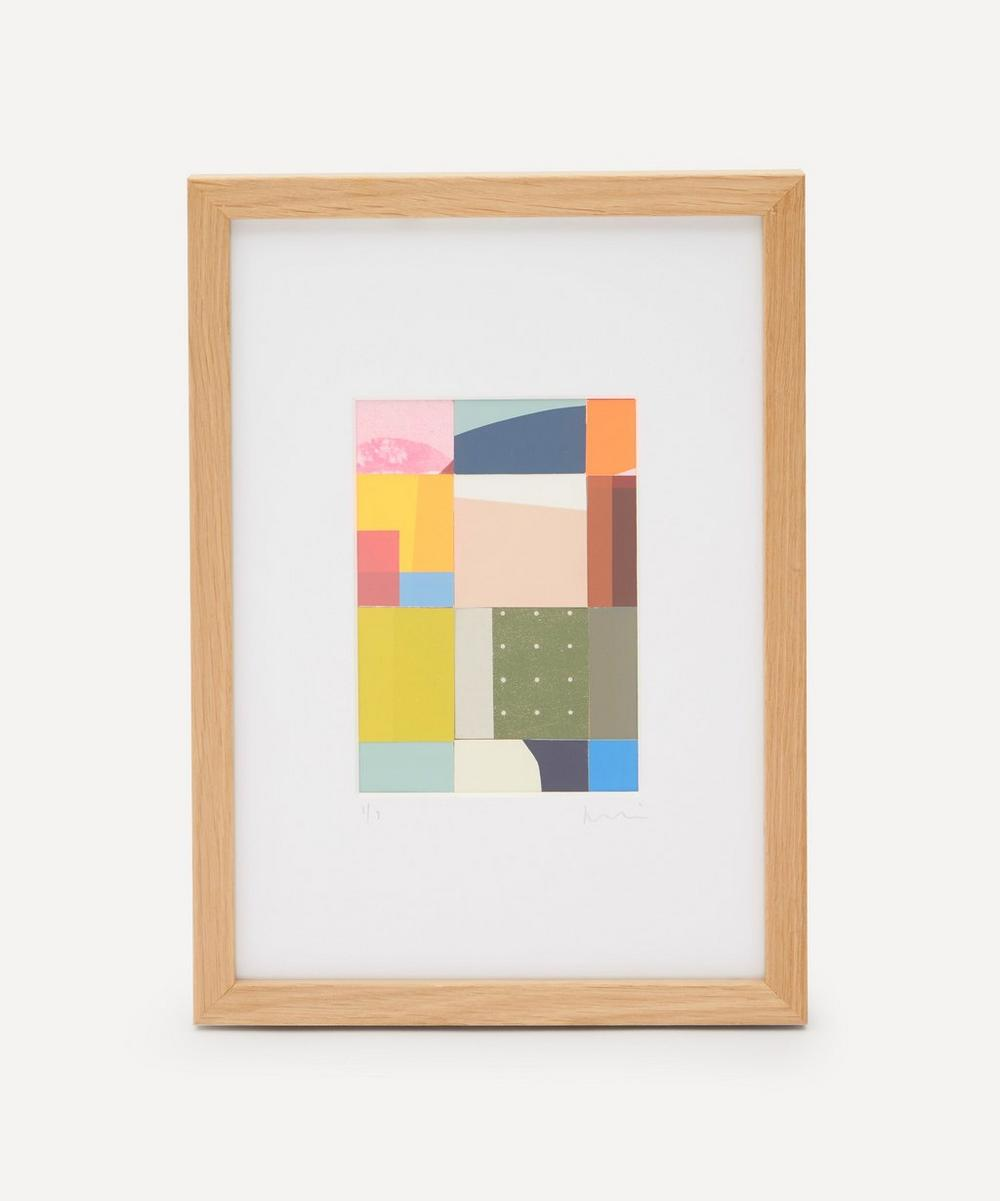 Jonathan Lawes - Plaid 03 A4 Framed Collage