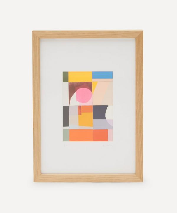 Jonathan Lawes - Plaid 06 A4 Framed Collage