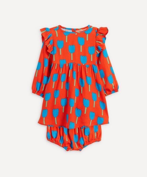 Stella McCartney Kids - Tulips Frill Long Sleeve TTulips Frill Dress and Bloomers 3 Months-3 Years