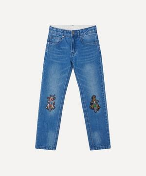 Doggie Badge Denim Trousers 2-8 Years
